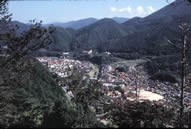 View of Tsuwano, a picturesque mountain town near the western tip of Honshū.