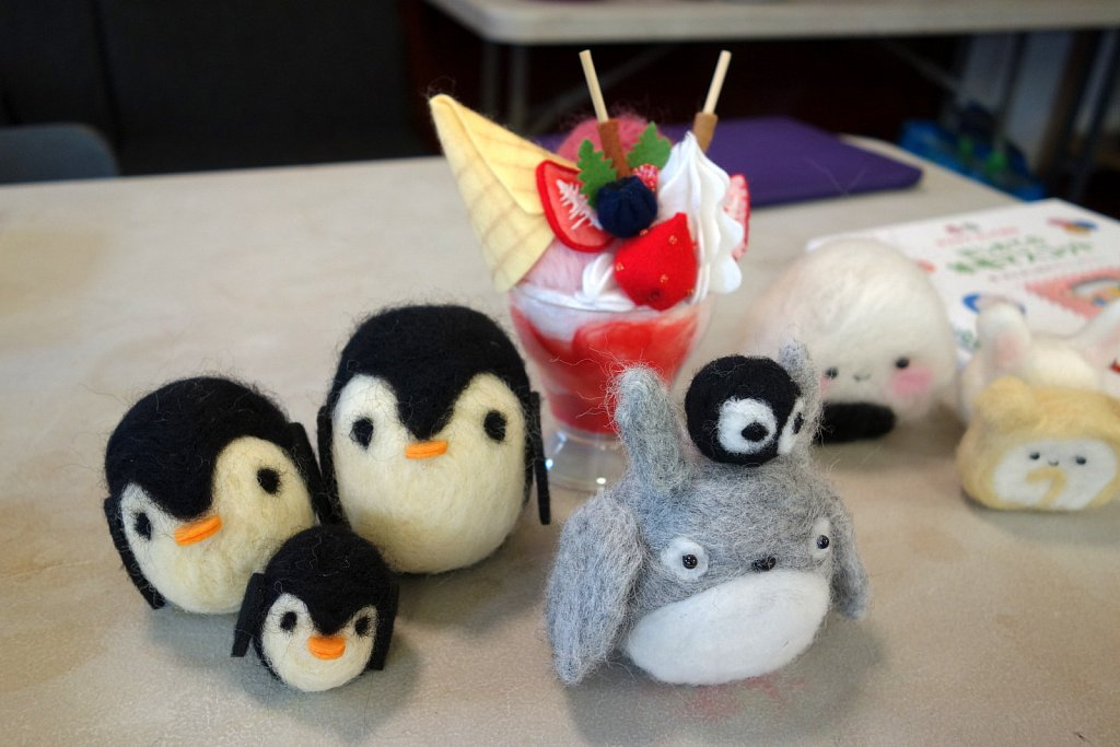 Needle Felting and Furoshiki Wrapping Workshop 2015